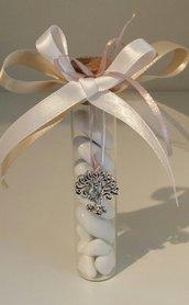 Bomboniera provetta di vetro con albero della vita