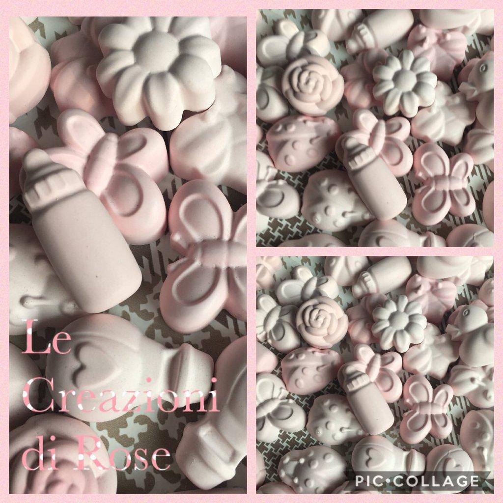 50 gessi gessetti profumati colore rosa nascita battesimo assortiti