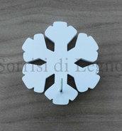 Gancio per appendere le presine a forma di fiocco di neve