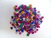 50 roselline metallo vari colori 6mm.