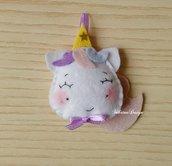 Bomboniera unicorno, unicorno feltro, confettata nascita, bomboniera battesimo, bomboniera comunione, compleanno unicorno