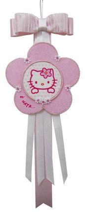Fiocco Nascita Hello Kitty - nome ALESSIA