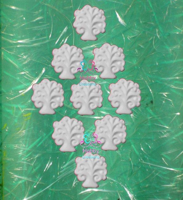 LOTTO PRONTA CONSEGNA di 24 Gessetti colore bianco profumati a forma di ALBERELLO ALBERO DELLA VITA per bomboniera Laurea, Cresima, Battesimo, Comunione, Matrimonio, Natale - Idea Regalo