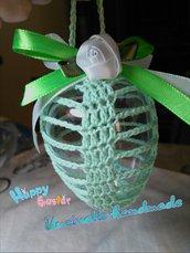 Uova pasquali uncinetto cotone decorazione casa fatto a mano