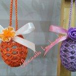 Uova piccole pasquali uncinetto cotone decorazione casa fatto a mano