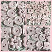 Gessi 80 gessetti profumati bottoni rosa nascita battesimo comunione Cresima