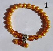 Bracciale elasticizzato perle e cristalli