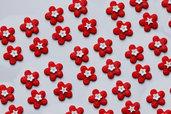 Bomboniere battesimo fiori baby rosso complemento decorativo per confezionamento fai da te