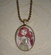 The key of my heart-Pendaglio ovale con la catena