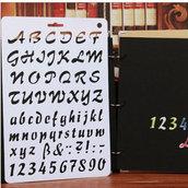 """Stancil """"Lettere&Numeri"""" (20.7x30.7 cm) (cod.oro)"""