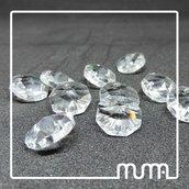 Set N°10pz Ottagoni in Cristallo puro al 30%Pb. Ricambio per lampadari applique.