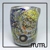 Bicchiere in Vetro di Murano. Con Foglia Argento. Direttamente da Fornace.