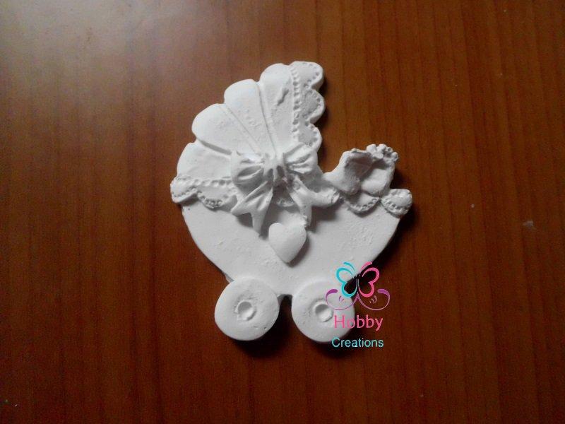 50*Gessetti artigianali a forma di  CARROZZINA CON PIEDINI  6 x 5 cm per  Bomboniera Compleanno, Nascita, Segnaposto, battesimo, anniversario