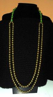Collana due fili di perle