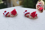 Bomboniere Neonato Baby topolino rosso che dorme bomboniera nascita e battesimo e segnaposto in fimo