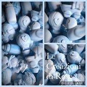 Gessi  gessetti profumati Segnaposto nascita battesimo azzurro