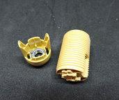 Ricambio elettrico luce. Corpo portalampada E14 in termoplastica. Certificato CE