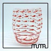 Vetro Artistico. Bicchiere robusto e capiente. Goto di Fornace. Made in Italy
