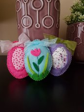 Uova di Pasqua simpatiche e colorate