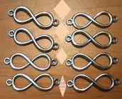 7* (10 pezzi) Pendente ciondolo charms infinito fai da te per bomboniere  bigiotteria, collane portachiavi, orecchini bomboniera bomboniere chiudipacco