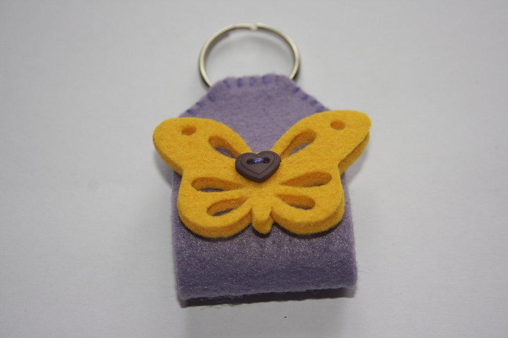 Portachiavi farfalla feltro