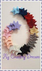 Mix di stelle in feltro