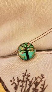Anello albero in fiore