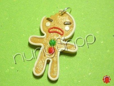 Ciondolo Omino Biscottino arrabbiato*