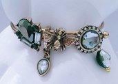 """bracciale con cristalli e acrilico """"Old fashion 25"""""""