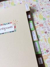 Divisori ricettario formato A5 per quaderno ad anelli - tre colori
