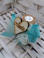Barattolino vetro cuore personalizzato