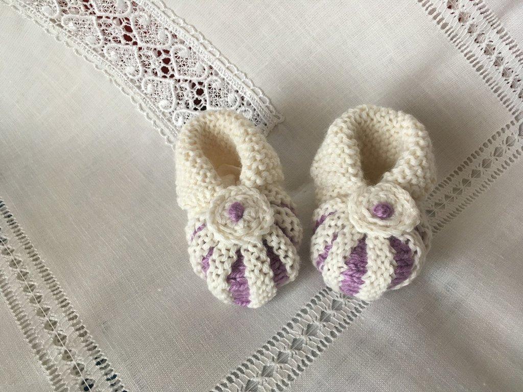 Scarpette lana neonata