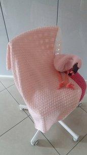 Copertina neonata ad uncinetto