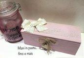 Scatola in legno porta the