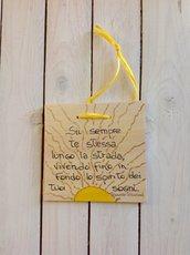 8 Marzo su quadretti di legno