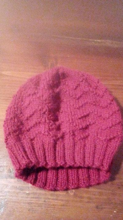cappello lana bordeaux