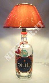 Lampada da tavolo Bottiglia vuota London Dry Gin Opihr idea regalo riciclo creativo riuso arredo design
