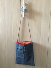 Borsa in jeans a tracolla