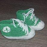 scarpine cotone uncinetto neonato neonata