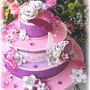 Torta scenografica fiori e farfalle, torta battesimo, primo compleanno, comunione, matrimonio, torta cresima, cake topper