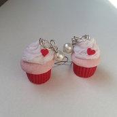 orecchini dolcetto in fimo realizzati completamente a mano