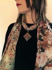 foulard tourchon marrone