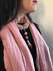foulard gioiello rosa