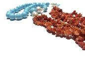 collana in pasta turchese e corallo