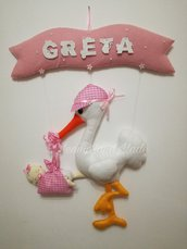 Cicogna fiocco nascita