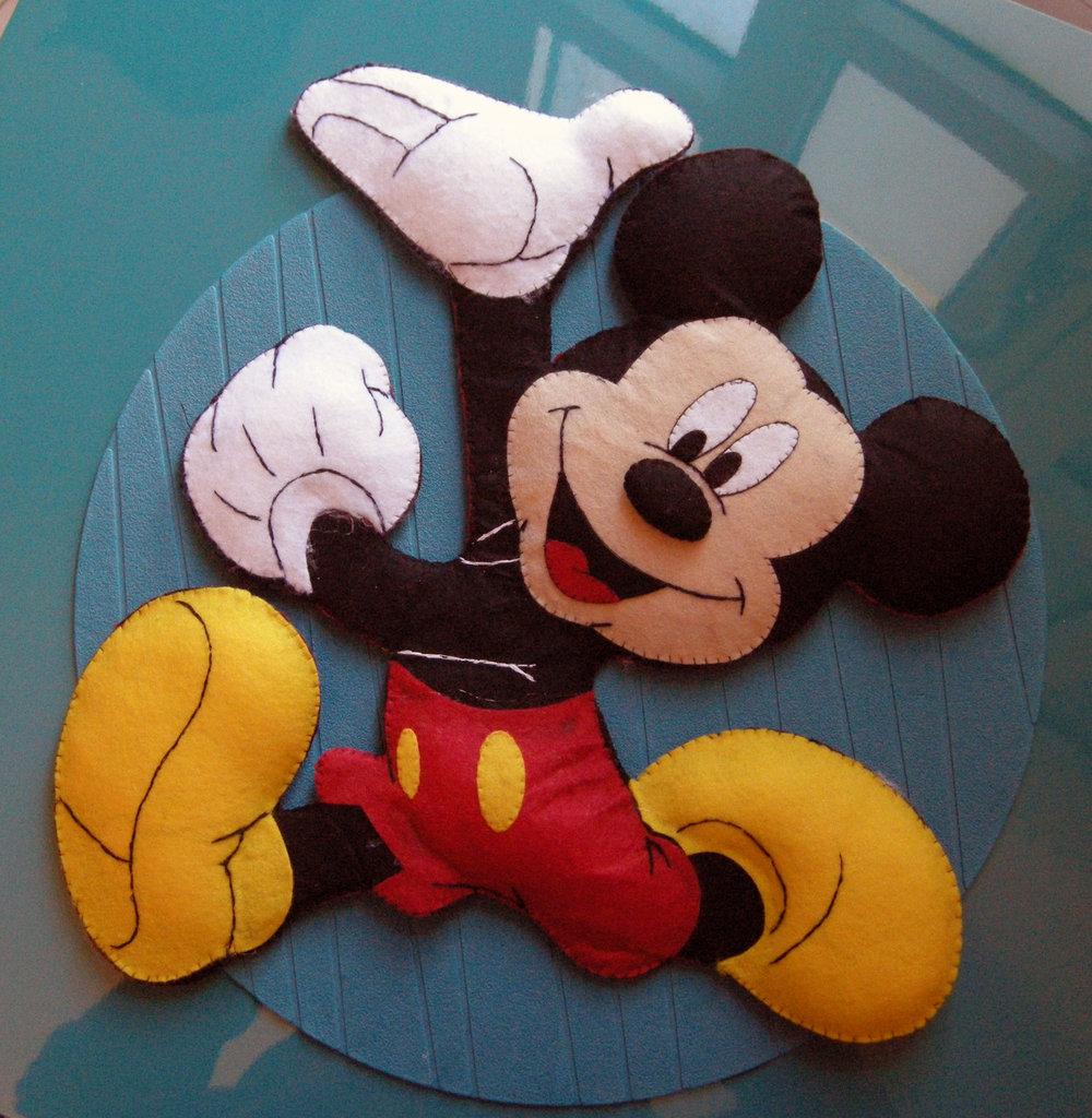 topolino - mickey mouse - annuncio - ghirlanda - fiocco nascita