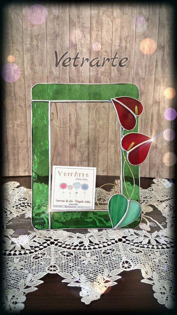 Portafotografie Realizzato in vetro con tecnica Tiffany