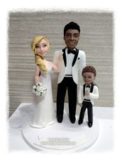 Cake topper sposi personalizzati sposi
