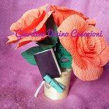 Piantina di rose , segnaposto, bomboniera, pianta, fatta a mano, fiori, matrimonio, anniversario