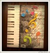 QUADRO STRING ART NOTE MUSICALI